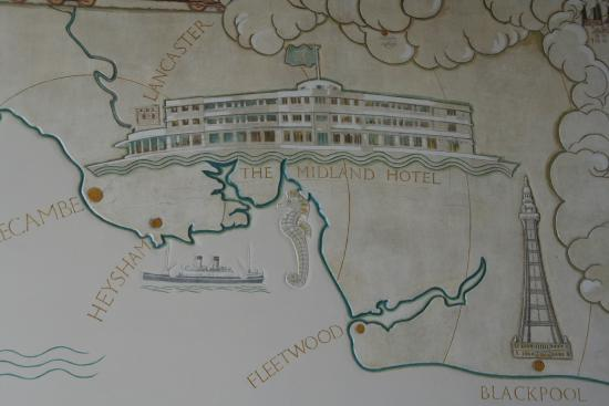 The Sun Terrace Restaurant : 1930's map in function room