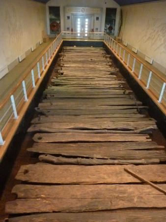 Corlea Trackway Visitor Centre: Section of restored road in the centre