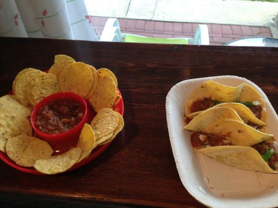 The Taco Bar : I had eaten two tacos before we even sat down