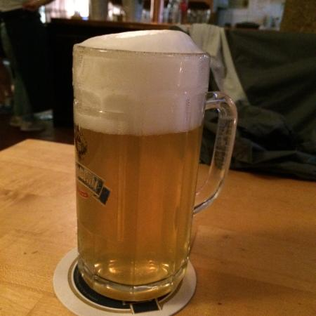 Altes Bräuhaus: This is a zwickl, an unfiltered beer so it looks a little cloudy but the taste is great