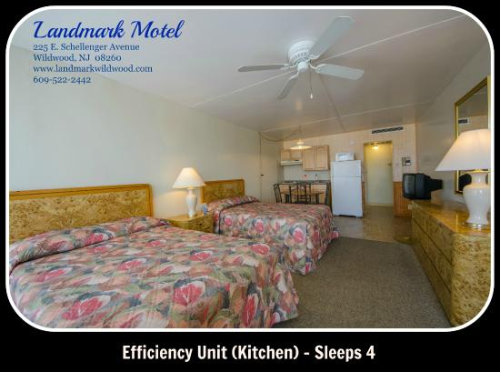 Landmark Motel: Efficiency Room - Sleeps 4