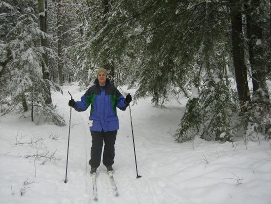 Petoskey State Park: Friend on skis