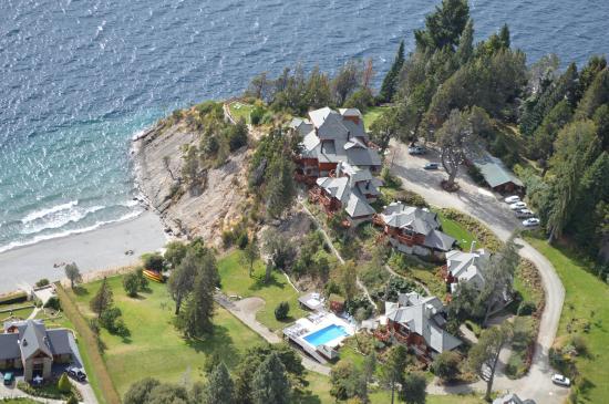 Charming - Luxury Lodge & Private Spa: Vista aérea del complejo