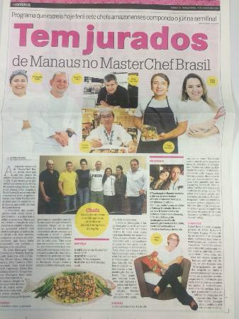 Tambaqui de Banda - Parque 10: Reportagem falando sobre os jurados amazonenses no Master Chef Brasil