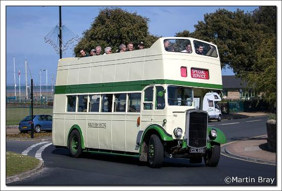 Isle of Wight Bus Museum: CDL 899 at Ryde on a local tour.
