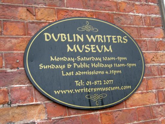Dublin Writers Museum: Welcome!