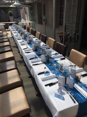 Restaurant La Salamandre: Baptême de 26 personnes