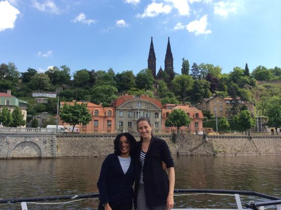 Sightseeing Prague: Loving the boat trip!!! And the food!!