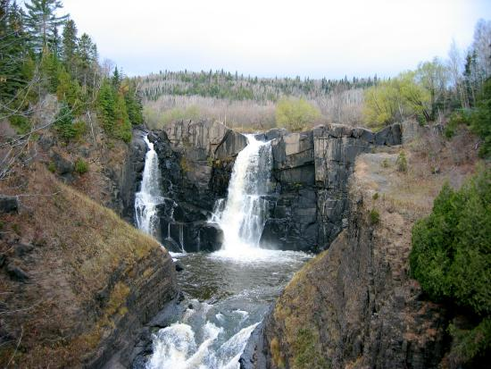 High Falls: The falls in November.