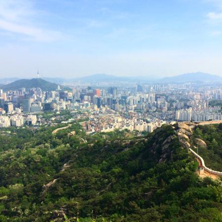 Inwangsan Mountain: Looking toward Seoul tower.