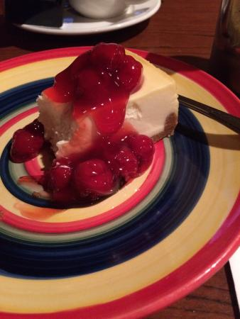 Delphos, OH: The Ribeye Dinner was the Best!! And this cheese cake was crazy good!!