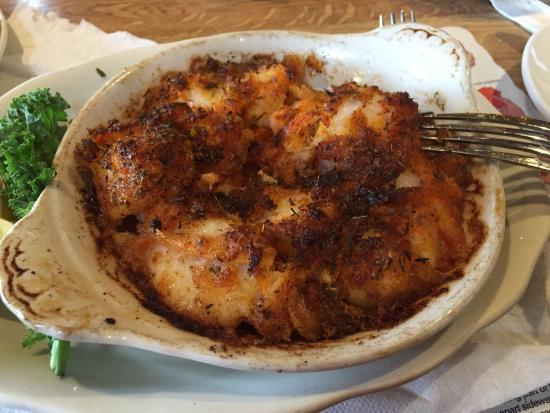 Broiled seafood casserole picture of maine fish market for Maine fish market
