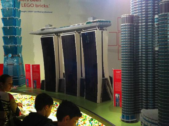 Museum of Sydney: A few models from the Lego exhibit with the Lego for playing underneath.