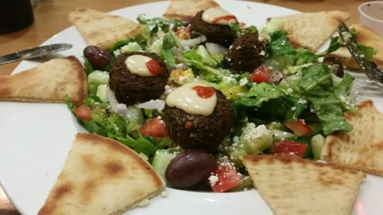 Cafe Mix Greek & American Food: Greek salad with falafel
