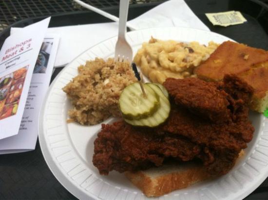 Bishop's: hot chicken combo - 1 meat