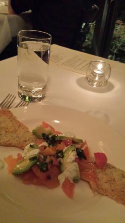 Rivoli Restaurant: appetizer with salmon - delish