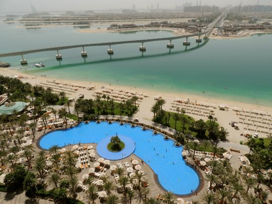 view of royal pool from room picture of atlantis the palm dubai tripadvisor