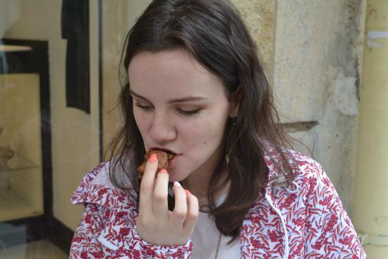 Tours For Foodies: Sampling Pierre Hermé's chocolate macaroons during the Gourmet Tour