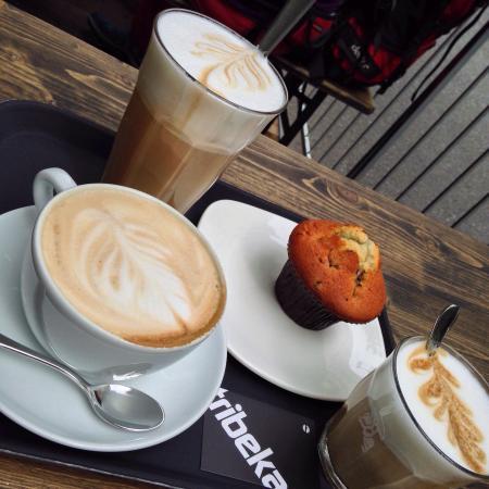 Tribeka: Absolutes Lieblingskaffee in Graz ! :D Bester Kaffee, super Atmosphäre und ganz nette Bedienung.
