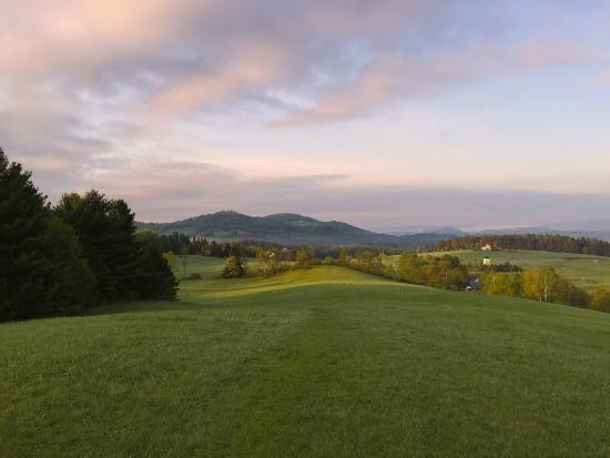 """Lyndonville, VT: Early morning """"walk to"""" view from the hill over the Inn."""