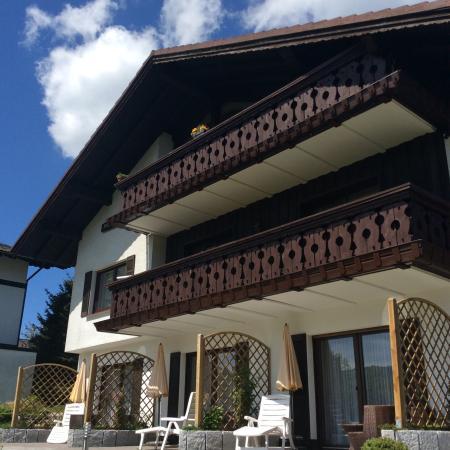 Achterkant van landhaus Florian
