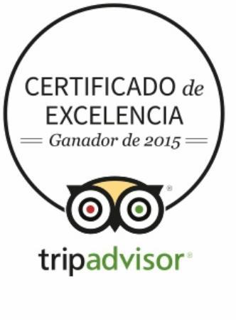 B&B La Laguna: Certificado de Excelencia 2015