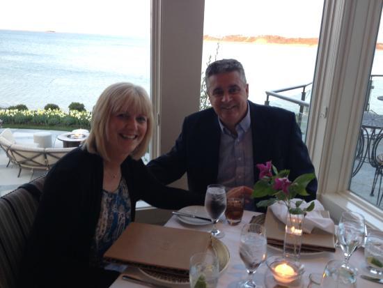 Twenty Eight Atlantic: Stefanie & Bob with Pleasant Bay in the background.  Excellent