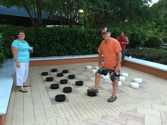 Hilton Grand Vacations at SeaWorld: Giant Checkers!