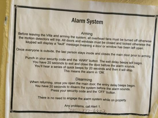 Villa Papillon: Alarm Systems for Dummies - For those who have never armed a property before...