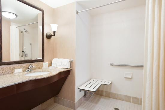 Homewood Suites Minneapolis - New Brighton: Roll-in Shower