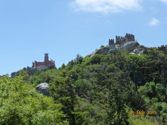 VBJ - Villa Branca Jacinta: Pena Palace from the Mouros Castle