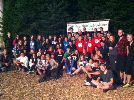 Ellsworth, Maine: Campers LOVE the Lumberjack Show