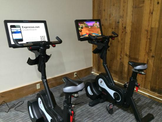 Heritage Hotel: Interactive stationary bikes