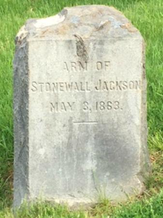 Grave of Stonewall Jackson's Arm: Arm Gravestone