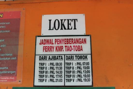 North Sumatra, Indonesia: Jadwal Penyeberangan KMF di Danau Toba, Pulau Samosir, Sumatera Utara