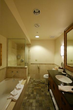 Tradewinds Carmel: The bathroom.