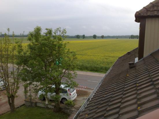 La Rothiere, Γαλλία: Vue depuis notre chambre
