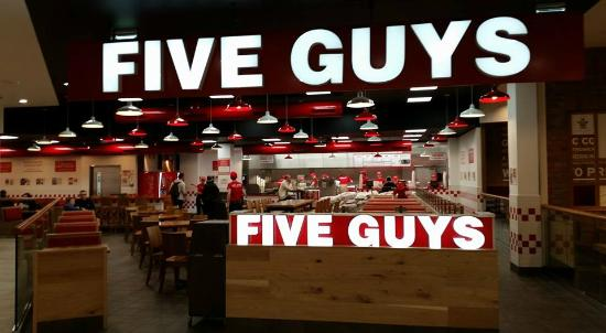Five Guys Braehead Glasgow