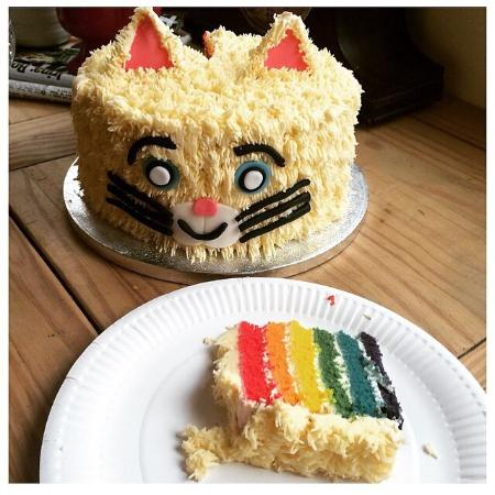 That Cake Cat Rainbow Birthday