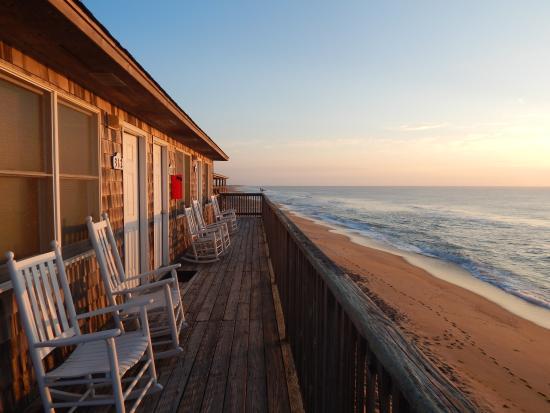 Cape Hatteras Motel The Porch Right Above Beach