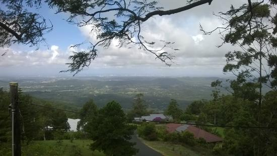 Tamborine Mountain Bed & Breakfast : View from the balcony of the main house where guests are encouraged to relax.