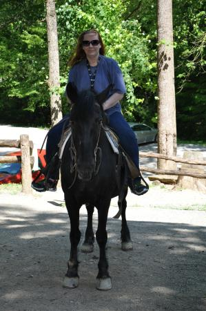 Smoky Mountain Riding Stables: mom on horseback