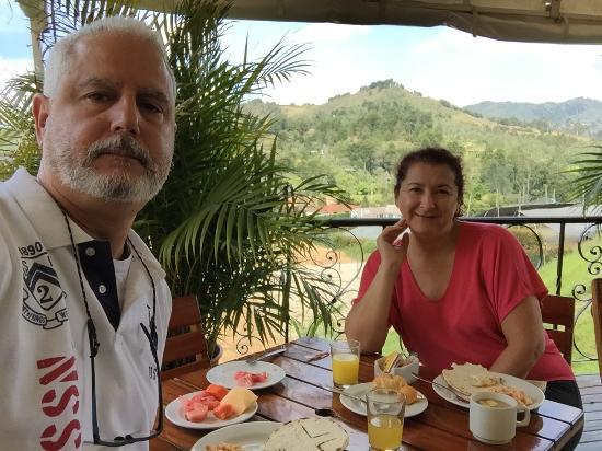 Hotel Santiago de Arma : View from the breakfast terrace.
