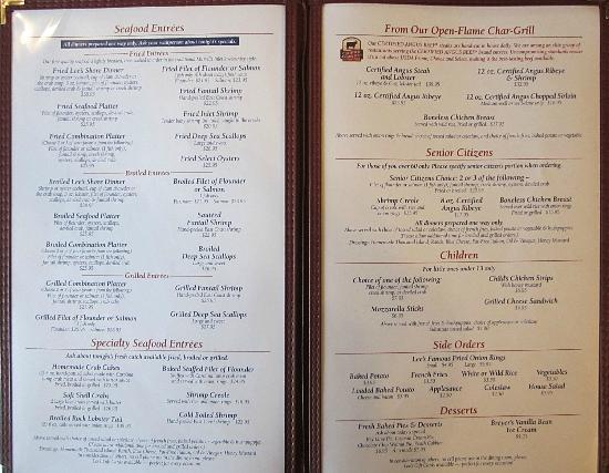 Lee S Inlet Kitchen Murrells Inlet Menu