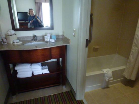 Hampton Inn & Suites Frederick-Fort Detrick: Bathroom Area