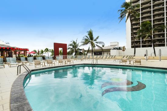 Aston Waikiki Beach Hotel Outdoor Pool And Sundeck
