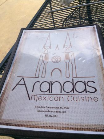 Menu has lots of options picture of arandas mexican for Arandas mexican cuisine apex