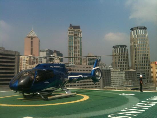 Philjets Helicopter Charter Tours Sightseeing Philippines Peninsula Manila Helipad