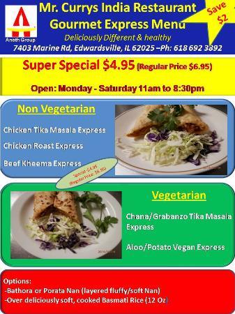 Mr Currys India Restaurant Gourmet Edwardsville