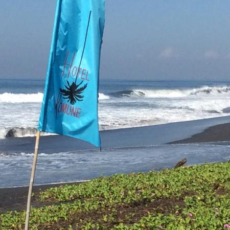 Surf Break In Front Of Restaurant Bar And Pool Picture Of Komune